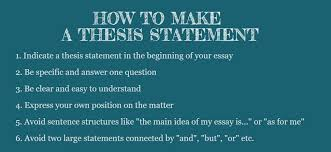 how to write a thesis statement correct and incorrect thesis statement examples