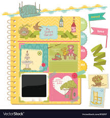How To Design A Scrapbook Scrapbook Design Elements Summer Garden Doodles