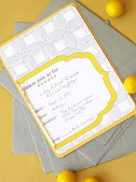 15 printable birthday invitations for all ages a yellow and gray birthday invitation on a table