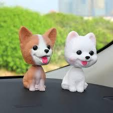 new car ornament cute shake head nodding dog doll automotive interior dashboard decoration bobblehead puppy figure toys