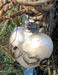 Herz Bauernsilber Glas Silber Christbaumschmuck Shabby Chic Deko