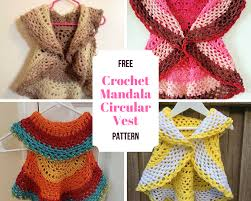 Crochet Circular Vest Pattern Free Simple Crochet Mandala Circular Vest Free Pattern Crochet Designs And