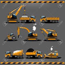 Camions Construction V Hicules De Construction Types Vector Icon