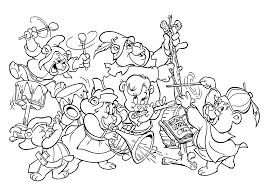 Small Picture All Gummi bears cartoon coloring pages for kids printable free