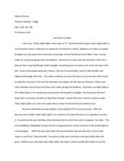 critical engagement essay drafting reading log for friday night 4 pages critical engagement example rough draft 2