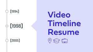 Video Timeline Resume Powtoon