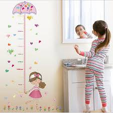 Vinyl Decal Pricing Chart Us 0 57 40 Off Umbrella Girl Height Chart Measure Wall Sticker Art Vinyl Decal Kids Room Decor Hot Wall Stickers Raamstickers Kerst Poster In Wall