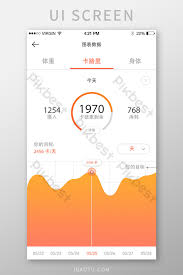 Calorie Chart App Yellow Gradient Workout Fitness App Calorie Chart Trend Page