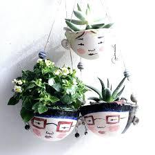 ceramic hanging planter plant pots hanging wall planters outdoor large garden ceramic patio plants fruit basket ceramic hanging planter