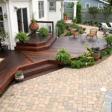 Decking Designs For Small Gardens Delectable Patio Fantastic Deck And Patio Decor Design Chic Backyard Patio