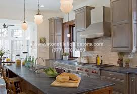 gray soapstone honed kitchen countertop
