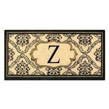 outdoor entry mats first impression treated in x in coir monogrammed z door outdoor door mats outdoor entry mats e door