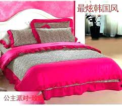 pink bedding full hot bed sheets queen duvet cover king size bright linen ruffle pink bedding full dreamy fairy tales ruffled