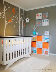 ... Cool Images Of Baby Nursery Design And Decoration : Interesting Unisex  Baby Nursery Decoration Using Tree ...