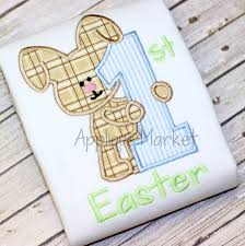Machine Embroidery Design Applique My First Easter Boy and | Etsy