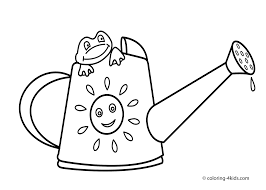 Spring Coloring Pages Frog For Kids