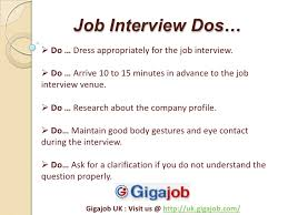 The Do S And Don Ts Of An Interview Dos And Donts In Job Interview Lessons Tes Teach