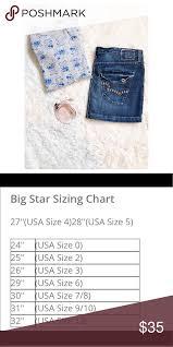 Big Star Denim Skirt Size 31 Measurements