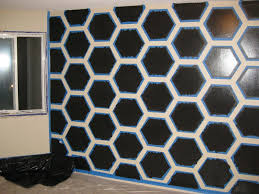 Wall Patterns With Tape Diy Hexagon Wall Art With Painters Tape Dwell Candy