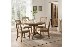 carmen solid oak round extending table