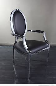 stainless steel furniture designs. Padded Stainless Steel Dining Arm Chair Furniture Designs