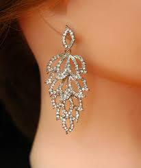 art deco earrings wedding earrings free bridal earrings leaf earrings silver chandelier earrings prom earrings prom jewelry 32 00 usd