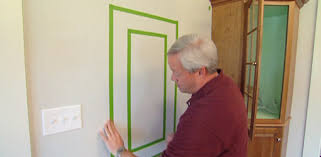 how to paint a frame border on a wall using painter s tape today s homeowner