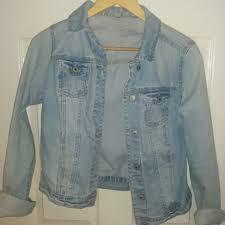 Light Blue Fitted Denim Jacket Newlook Light Blue Wash Denim Jacket Size 10 And Depop