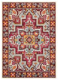 oriental weavers bohemian 5330r red pink oriental area rug mediterranean area rugs by rugmethod
