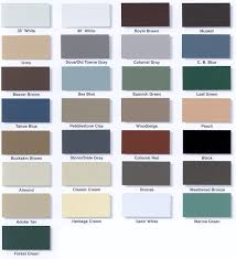 Payless Gutters Siding Inc Rain Gutter Color Selections