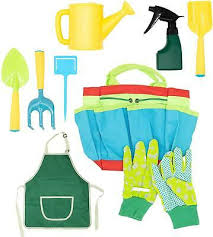 9pcs kids children gardening tools set