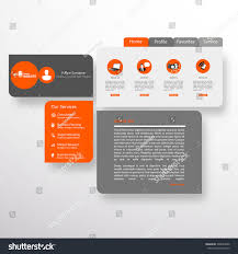 Abstract Website Template Editable Vector Format Stock Vector