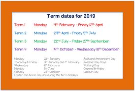 2019 Term Dates | Knighton Normal School