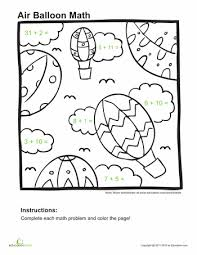 Addition Coloring Pages - 1st Grade | Education.comAddition Coloring Page
