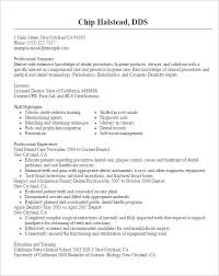 Dental Resume Template Resume Sample