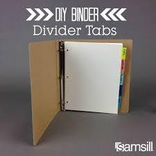 Diy Binder Dividers Paper Projects Binder Dividers Binder School