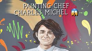 Chef Charles Michel painting time lapse - YouTube