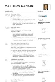 Technical Writer Sample Resume