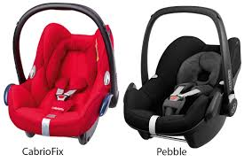 cabriofix vs pebble car seat the maxi cosi