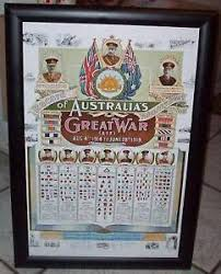 Details About Aif Colour Patch Poster Ww1 Australian Army Chart Great War