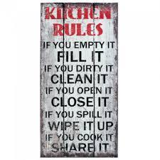 kitchen rules wall art pack of 1 ea  on wall art kitchen rules with kitchen rules wall art pack of 1 ea ebay