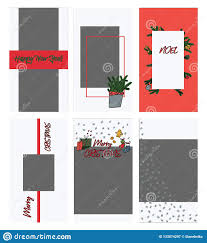 Style Templates Set Of Christmas Instagram Stories Templates In Doodle Style