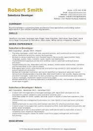 Certified Developer Resume Salesforce Developer Resume Samples Qwikresume