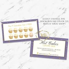 Business Punch Cards Elegant Salon Loyalty Card Template Image