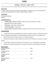 Cover Letter Format 3d Artist Picture Resume Sample And Template
