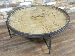 clock coffee table round glass clock coffee table
