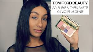 <b>TOM FORD</b> Soleil Eye and Cheek Palette <b>Violet</b> Argenté   2 Eye ...