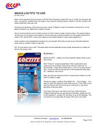 Loctite When Used