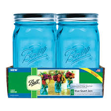 ball quart jars. ball collection elite blue quart wide mouth canning jar (1440069024) - 4 pack view all ace hardware jars