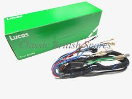 lucas triumph bsa twins headlamp cloth wiring harness 5490711 lucas triumph bsa twins headlamp cloth wiring harness 5490711 59635 1971 72